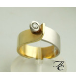 Atelier Christian Bicolor ring met briljant