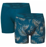 Zaccini heren boxershorts 2 pack palm leafes -