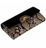 LUELLA GREY Melissa wooden clasp purse black