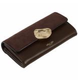 LUELLA GREY Layla molten clasp purse chocolate