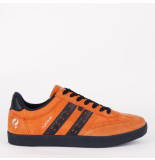 Q1905 Sneaker platinum roest oranje/donkerblauw