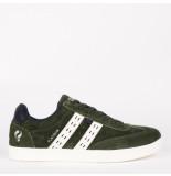 Q1905 Sneaker platinum donkergroen/wit
