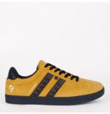 Q1905 Sneaker platinum oker geel/donkerblauw