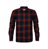 Petrol Industries M-3010-sil438 check shirt 3154 spice red -