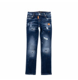My Brand Dark denim faded ripped jeans