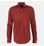 Lerros Overhemd 354 burnt red