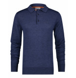 A Fish Named Fred 23.01.400 knitted merino polo navy blue -