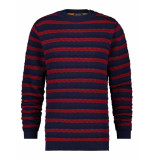 A Fish Named Fred 23.01.511 striped cable sweat blue multicolour -