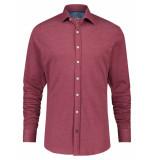 A Fish Named Fred 23.01.028 shirt burgundy pique overhemd -