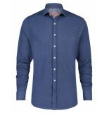 A Fish Named Fred 23.01.027 shirt pique navy pique overhemd -