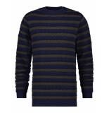 A Fish Named Fred 23.02.510 striped cable trui- blue multicolor -