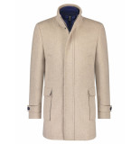 A Fish Named Fred 23.02.160 funnel neck coat sand -