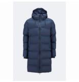 Rains Jas long puffer jacket blue blauw