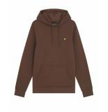 Lyle and Scott Ml416vog lyle&scott pullover hoodie, w478 rust