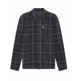 Lyle and Scott Lw1510v lyle&scott fleece overshirt, z258 charcoal