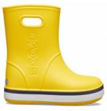 Crocs Regenlaars kids crocband rain boot yellow navy
