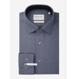 Michaelis Donker birdseye overhemd | shirt (extra lange mouwen)