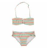 O'Neill Groen gestreepte bandeau bikini kind stripe