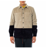Shoe Camicia uomo color block corduroy shirt warren85102