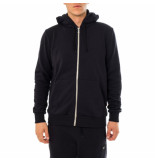 Shoe Felpa uomo basic zip hooded sweatshirt zane0101.blk