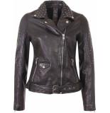Gipsy Zarlia leder jacket black & studs