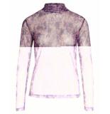 Co'Couture Top 93082 mauve mesh turtle