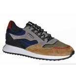 Floris van Bommel Artikelnummer 16478 sharki sneaker suède grijs (01) kleur en materiaal combi