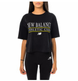 New Balance T-shirt donna essentials athletic club boxy tee wt13509bk