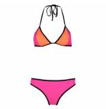 Shiwi Bikini triangle contrast pink glow roze
