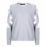 Supertrash Sweat taffic light grey melange grijs