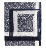 Sandwich 28001234 40138 sjaal woven dark sapphire blauw