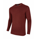 Cavallaro Trui slim knitted deep red rood