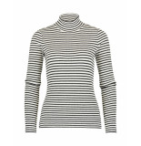 Claudia Sträter Trui striped white zwart