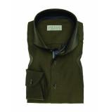 John Miller Overhemd tailored fit dark green groen