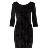 Sisters Point Dress gexo-v black glitter zwart