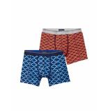 Scotch & Soda Boxer printed boxers set blue/orange