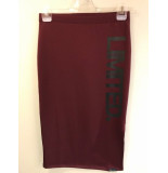 Penn & Ink W17f106ltd 311/90 ny skirt print wine black