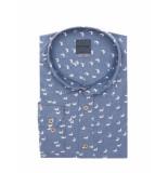 Bertoni of Denmark Overhemd pelle denim blauw