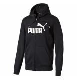 Puma Ess no.1 fz hoody, fl 035297 zwart