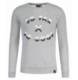 Kultivate 1801011036 153 sweater so good light grey melange grijs