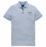 PME Legend Ppss000801 547 short sleeve polo two tone pique blauw