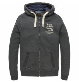 PME Legend Psw000402 9073 hooded jacket brushed falcon grijs