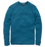 Cast Iron R-neck cotton viscose mouline blue sapphire-5 xl blauw