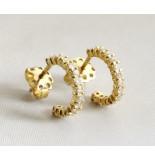 Christian 18 karaat oorbellen met diamanten geel goud