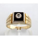 Atelier Christian 14 krt ring met onyx geel goud