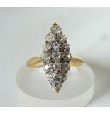 Christian Antieke gouden ring met briljanten