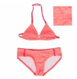 Just Beach Koraal rode triangle bikini apo island dot orange oranje