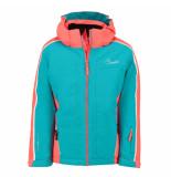 Dare2b Aqua/koraal rode meisjes ski jas beguile waterproof blauw