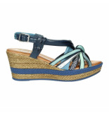 Texel Footwear Slippers sandalen 027517 blauw