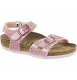 Birkenstock Sandaal rio magic snake rose roze